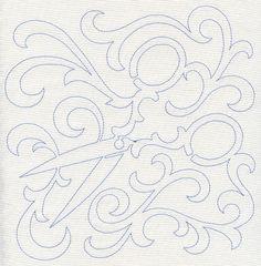 Scissors Quilting Square (Single Run) design (E8459) from www.Emblibrary.com