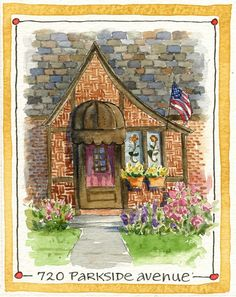 """My favorite painting from my week of painting en plein air is this one, """"Mount Lebanon Doors."""" 8"""" x 10"""", ink & watercolor on Canson Mo..."""