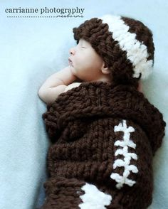 PDF Football Baby Cocoon and Hat Set Photography by RAKJpatterns, $4.95
