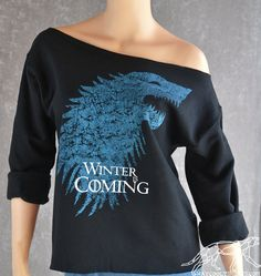 Game of Thrones SLOUCHY OVERSIZED SWEATSHIRT by waycooltshirts