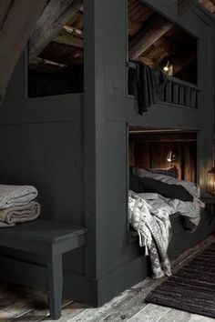 Rustic Guest Bedroom with Surya Rugs Tobias Grey 51 x 71 Throw, Eclipse Grey 70-Inch Throw Blanket, Custom bunk bed