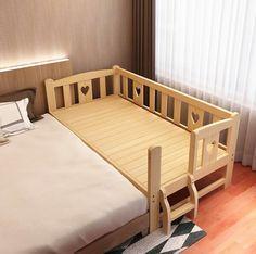 Lite Drewno Prosta Nowoczesna Wydłużają Poszerzyć Łączą Duże Łóżko Łóżeczko Dla Dziecka Łóżeczko Dziecięce Silne Łożyska Sosnowe Drewniane Łóżeczko