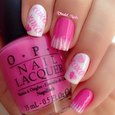 valentine by vindel_nails #nail #nails #nailart  http://amykinz97.tumblr.com/    https://instagram.com/amykinz97/  