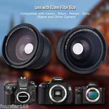 52MM 0.35X Wide Angle Lens for Nikon D7200 D7100 D7000 D5300 D5200 D5100 D3100