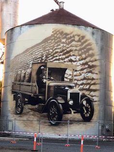 Murals Street Art, Saint James, Water Tower, Water Tank, Car Wash, Lighthouses, Barns, Pop Art, Antique Cars