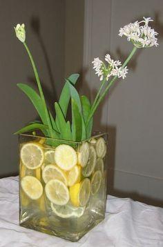 lemon floral arrangements