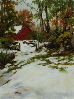 Kathy Anderson | Halloween Snow, oil, 16 x 12