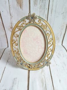 Gold Ornate Frame Oval Frame Antique Ornate by ShabbyChicJCouture
