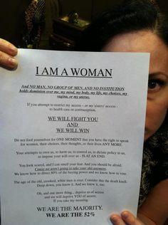 We will fight you, and we will win - WOMEN #WaronWomen #WomensRights #Women