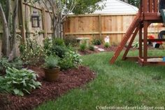 Back Yard Makeover - need something like this back by the dogwoods