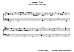 Beginner Piano Book: Lesson Four: Playing Piano Triplets