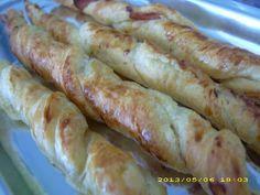 Recette de flûtes feuilletées de parme  A tremper dans une sauce au fromage bleu ou roquefort