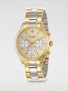 Kate Spade New York - Two-Tone Chronograph Watch - Saks.com