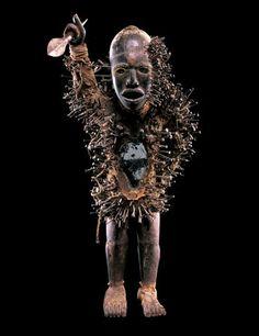 Power Figure: Nkisi Nkondi. Democratic Republic of the Congo; Kongo peoples, 18th–19th century. Provenance: St. Peter Clavier Sodalität Mission, Freiburg, Switzerland, before 1914; Josef Mueller, ca. 1950