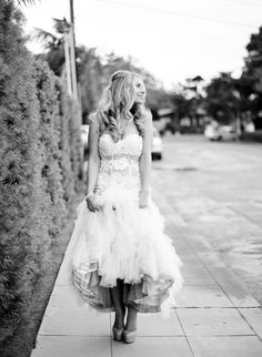 This Jovani dress is the best ever.  Photography by Ashley Keleman  Read more - http://www.stylemepretty.com/2014/02/07/elegant-la-jolla-elopement/