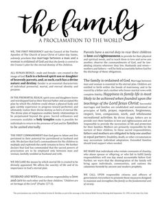 """Displaying ancestors' photos, along with current family photos, is a great way to bridge the generations, and create a deeper identity for those living. A great way to finish off a family picture collage is to display the Family Proclamation too. LARGE FREE """"Family: A Proclamation to the World"""" printable so that you can DIY!"""