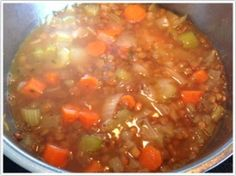 I have fond memories of lentil soup. My mother used to make it when I was a young girl. This recipe, which I literally threw together in 10 ...
