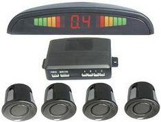Car Reversing Parking Aid - 4 Parking Sensors + Display LCD Monitor + Command Module Box