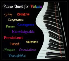 Heidi's Piano Studio: A Quest for Virtues - Theme for the New Piano Year