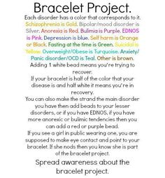 I want to do this. It's called the bracelet project. Mine would be more then one color for sure