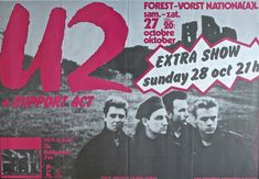 U2 - 1984 Brussels Concert Poster from Unforgettable Fire Tour - Recordmecca