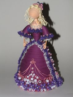 Quilling Doll handmade by QuillingLife on Etsy