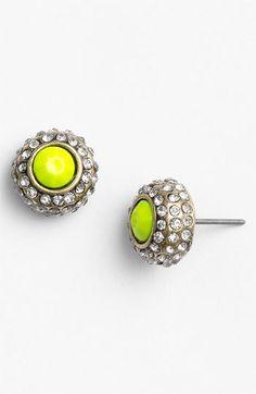 Neon Rhinestone Stud Earrings