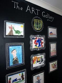 Kids art wall blackboard paint