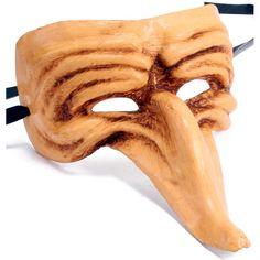 Zanni Mask: Antique Honey Image