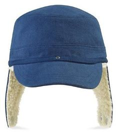 6b3df6f112456a  Denim blue  fleece lined warm winter baseball cap hat with ear  flaps