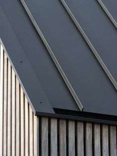 Roof Cladding, House Cladding, Timber Cladding, Zinc Roof, Metal Roof, Timber Roof, Roof Design, House Design, Long House