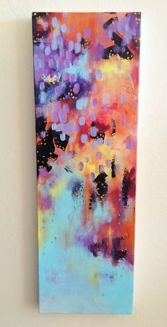 The Sky is Falling, Original, Acrylic Painting on Canvas, Abstract by JessicaFraserArt on Etsy