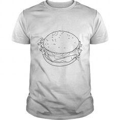 I Love Fast food burger lineart Shirts & Tees
