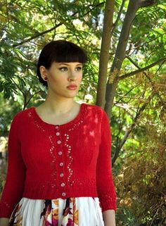 Cranberry Lace Cardigan