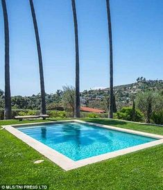 Fun in the sun: The pool has no doubt been the sight of many summer parties