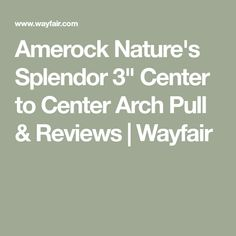 """Amerock Nature's Splendor 3"""" Center to Center Arch Pull & Reviews 