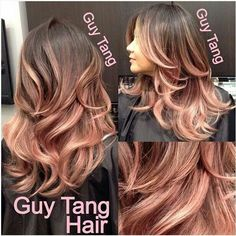 Colour not cut Rose gold hair!!