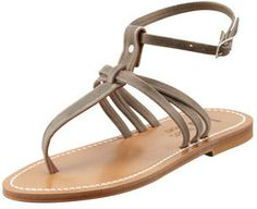 K. Jacques Papyrus Ankle-Strap Thong Sandal on shopstyle.com