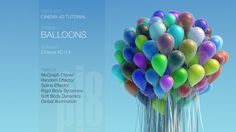 Cinema 4D Tutorial - Balloons by SioPio. Up, up and AWAY with another Cinema 4D tutorial floating through the steps of creating a balloon cluster created using the MoGraph Cloner and attempting to attach some dynamic strings. Learn How to use the Spline Effector and Random Effector to vary the position and scale of the balloons as well as generate random colors automatically.