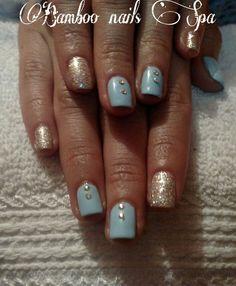 Gelish color azul cielo bamboo nails Spa vicky 4422068757