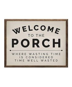 'Welcome to the Porch' Wood Wall Sign Outdoor Sign Wall Art Rustic Home Decor Diy Signs, Wall Signs, Porch Wood, Outdoor Signs, Patio Signs, Front Porch Signs, Outdoor Stuff, Outdoor Ideas, Front Porch Deck