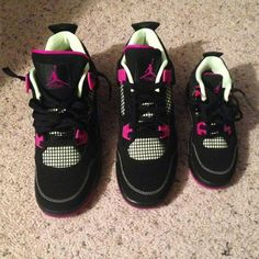 """""""Who picked up the AJ4 Retro 'Fuchsia' for the fam yesterday? : @731_vet  Follow and show us your stylish mini with #minilicious.  Like us on…"""""""