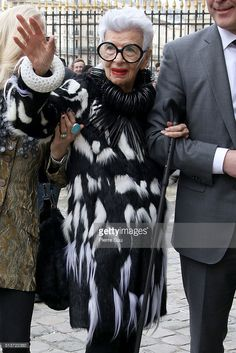 Iris Apfel arrives at the Christian Dior show as part of the Paris Fashion Week Womenswear Fall/Winter 2016/2017 on March 4, 2016 in Paris, France.