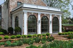 Midway Farm Project - Steel Windows and Doors USA French Exterior, Interior Exterior, Steel Windows, Windows And Doors, Brick Arch, Neoclassical Architecture, Dream House Exterior, Brick Building, Tropical Houses