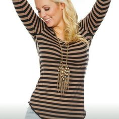 Bow Shirt Striped shirt with bow Tops Tees - Long Sleeve
