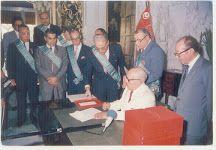 25 juillet 1985 signature se la loi promulguant le VII PLAN 1987-1991 dont la fidèle application aurait sauvé la TUNISIE