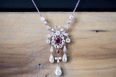 Art Deco Ruby Necklace Via Jogani