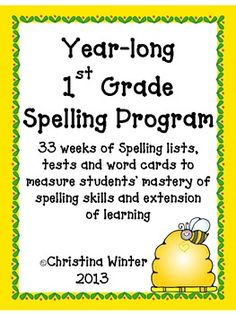 Are you looking for a strong, phonics component for your Common Core ELA program? Everything you need to get a successful spelling program running in your classroom TODAY! For over 10 years, I have used this complete spelling program for grade 1 but it could easily be used to enrich Kindergarten students or as an intervention with 2nd graders.