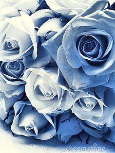 Delft Blue Wedding Bouquet