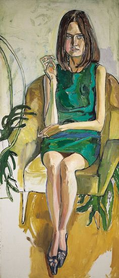Alice Neel (USA 1900-1984) Priscilla Johnson (1966) oil on canvas 178 × 76.2 cm